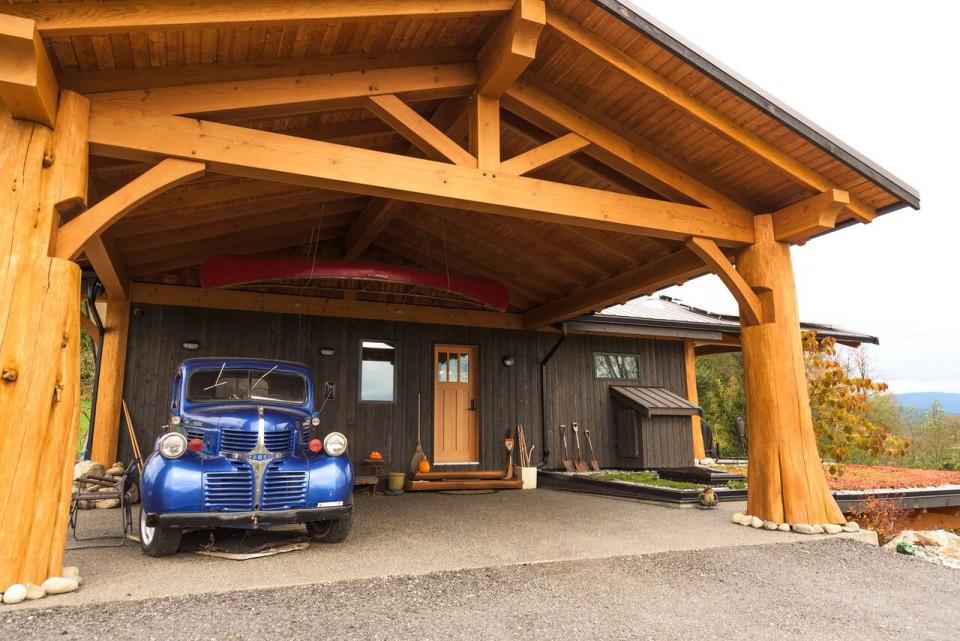 McNeil Timber Frame Log Home 3 | Streamline Design