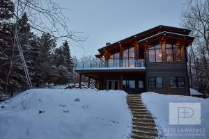 Emma Lake Timber Frame Log Home 7   Streamline Design