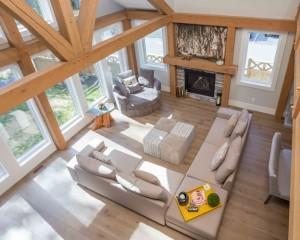 Straiton Timber Frame Home Beams   Streamline Design Ltd
