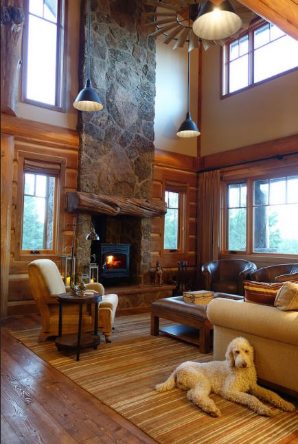 fireplace-in-log-home-design