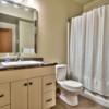 Bathroom in timber frame log home